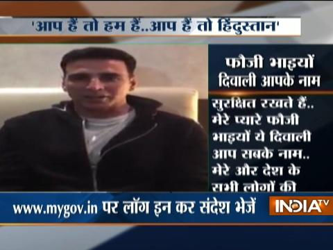 Actor Akshay Kumar wishes Diwali to soldiers