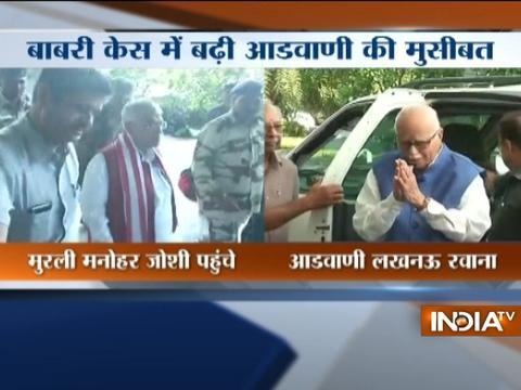 Babri Masjid hearing: Advani,Joshi depart for Lucknow