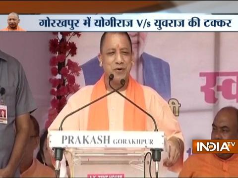 Yogi targets Rahul and Akhilesh, says 'Will not permit Gorakhpur to become picnic spot'