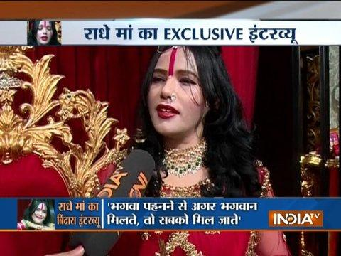 I wear mini dresses during night but never wore it publicly : Radhe Maa tells India TV