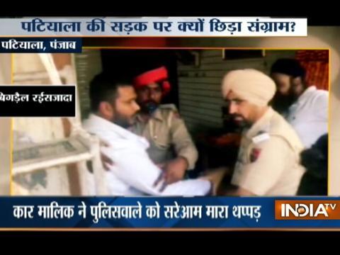 Man assaults cop after violating traffic rule in Patiala, Punjab