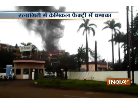 Fire breaks out in a chemical factory at Ranagiri in Maharashtra
