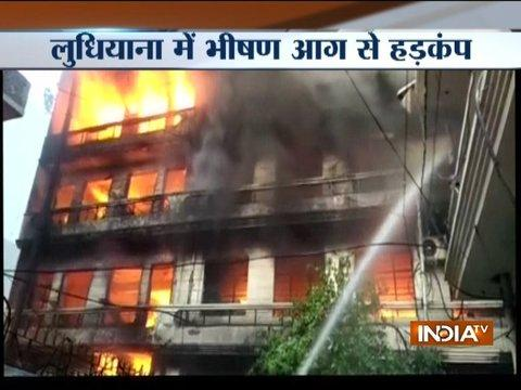 Punjab: Fire breaks out at building near cinema theatre in Ludhiana