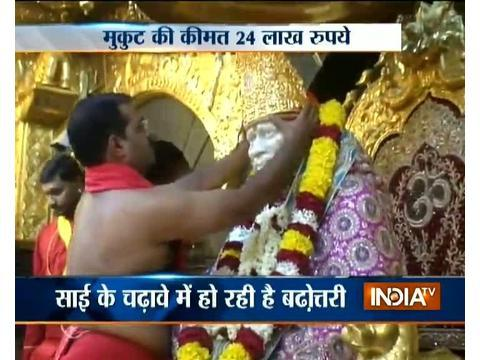 Devotee donates gold crown to Shirdi Sai Baba temple