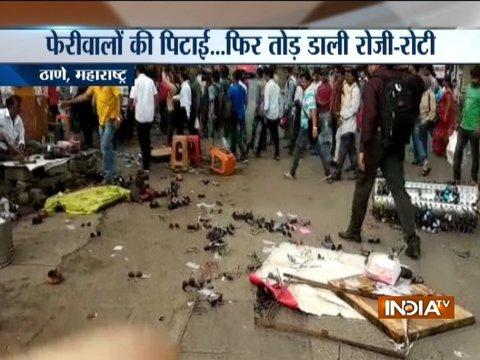 MNS workers vandalize North Indian vendor shops in Thane