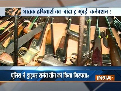 Three Mumbai residents arrested with huge cache of arms in Nashik