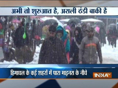 Snowfall in Jammu and Kashmir rattles daily life,national highway blocked