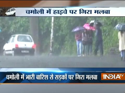 Heavy rain triggers landslide in Shimla and Chamoli