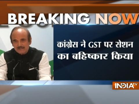 Congress to boycott midnight launch of GST in Parliament