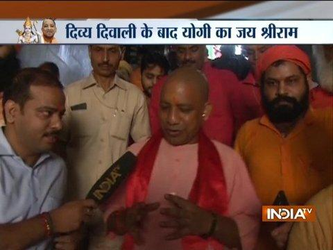 UP CM Yogi Adityanath visits Hanumangarhi Temple in Ayodhya