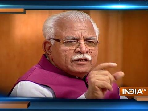 Khattar in Aap Ki Adalat: It is the responsibility of every citizen to live according to traditions, says CM