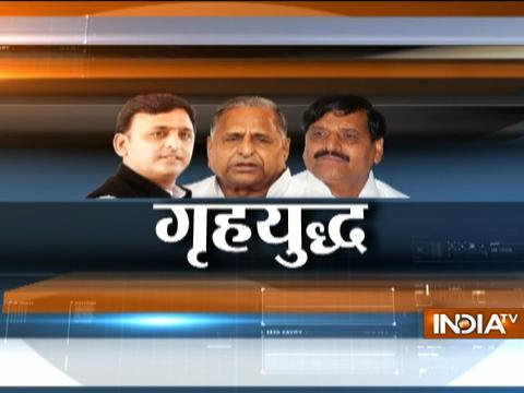 Has Mulayam Singh Yadav failed to clear conflict between Akhilesh and Shivpal?