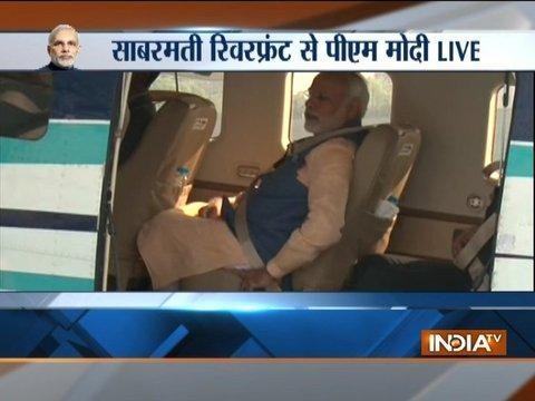 From PM Modi's arrival to departure at Sabarmati river front, watch video