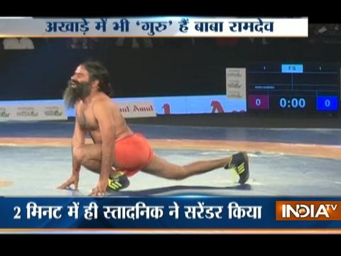 Pro Wrestling League season 2: Baba Ramdev challenges Olympic wrestler to friendly bout