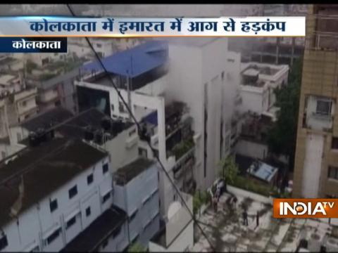 Fire broke out inside a building at Pretoria Street in Kolkata