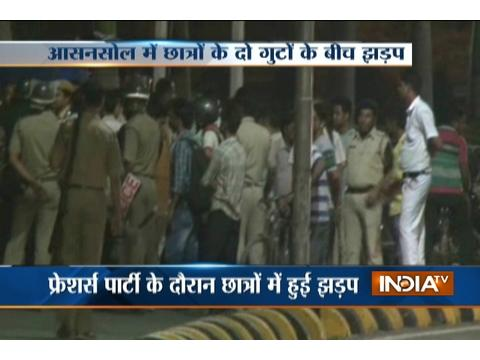 Police lathicharge after fight between two student groups in West Bengal