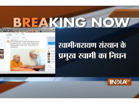 Head of BAPS Swaminarayan Sanstha Pramukh Swami Maharaj passes away in Gujarat