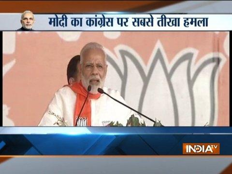 PM Modi addresses a rally at Gujarat Gaurav Mahasammelan in Gandhinagar