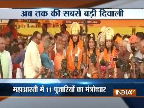 Grand Diwali celebration in Ayodhya