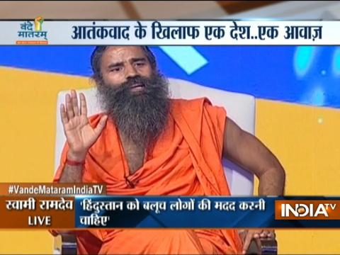 Vande Mataram India TV: If a war is needed to bring peace, so be it, says Baba Ramdev