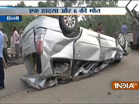 Six dead in collision between two vehicles on NH 24 in Delhi