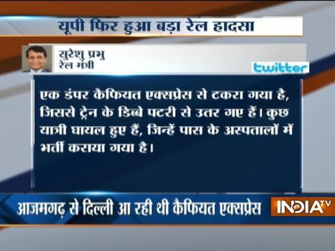 Railway Minister Suresh Prabhu tweets after Kaifiyat Express train derails near Auraiya