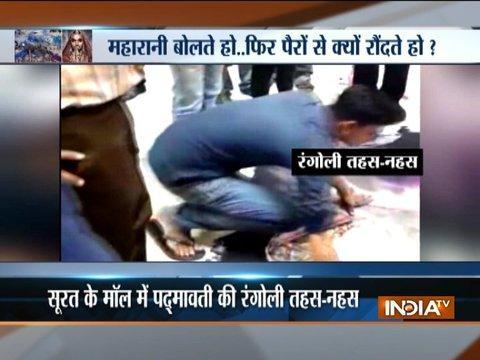 Gujarat: Five arrested for destroying Padmavati rangoli in Surat