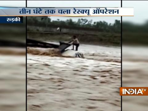 Uttarakhand: Lives of two saved under rescue operation in Rudki