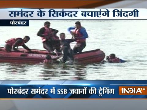 SSB conduct mega Mock drill to fight with flood situation in Porbandar