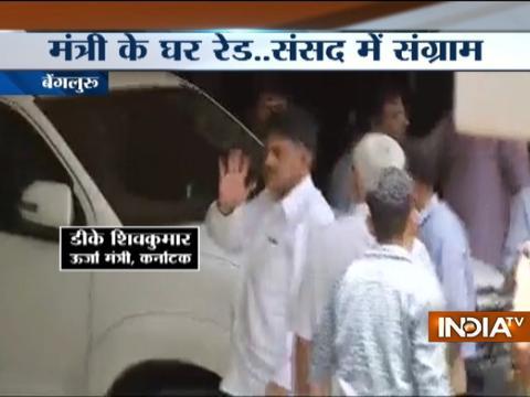 IT raids continue at premises owned by Karnataka Minister D.K Shivakumar