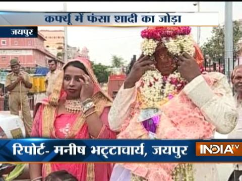 Rajasthan: Wedding celebrations spoiled amid curfew in Jaipur