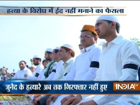 Ballabgarh: Eid with black arm bands as protest against Muslim lynchings