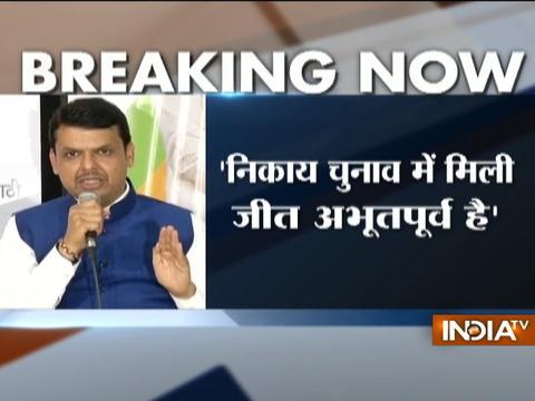 CM Fadnavis hails BJP's performance in Maharashtra civic polls