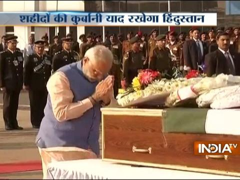 PM Modi pays tribute to soldiers personnel who lost their lives in encounters