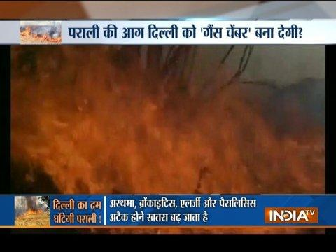 Farmers of Haryana, Punjab and Rajasthan begins stubble burning, pollution level likely to rise