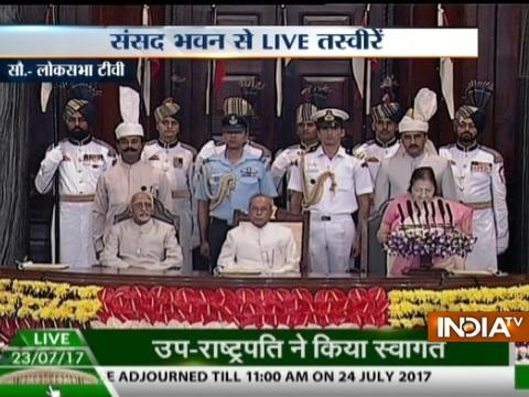 Parliament hosted farewell ceremony for President Pranab Mukherjee