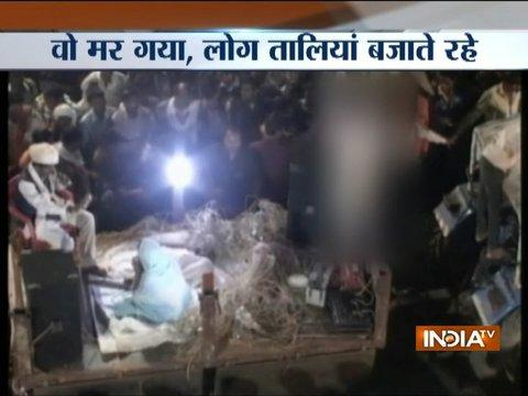 Man dies while potraying the condition of farmers during street play in Nagpur