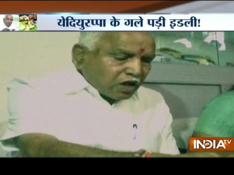 BS Yeddyurappa lands in controversy for eating hotel made idlis at dalit's house
