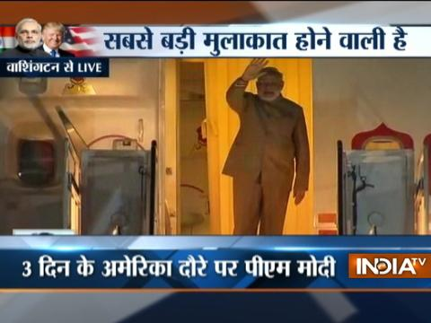 PM Modi arrives at Joint Base Andrews, Washington DC