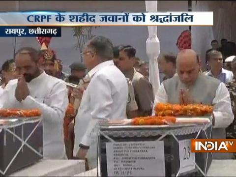 HM Rajnath Singh pays tribute to Sukma martyrs