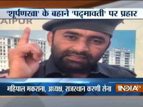 Karni Sena president threatens to chop Deepika Padukone's nose if movie Padmavati is released