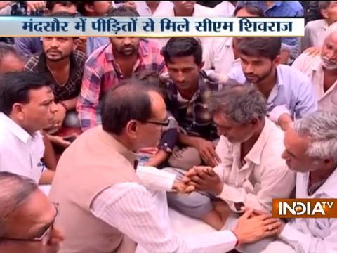 CM Shivraj Singh Chauhan meets kin of farmers killed in police firing in Mandsaur