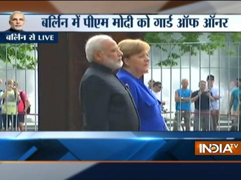 PM Modi receives ceremonial welcome in Berlin, Germany