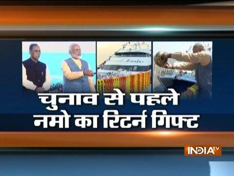 After launching India's first 'Ro-Ro' ferry service, PM Modi to address a rally in Vadodra