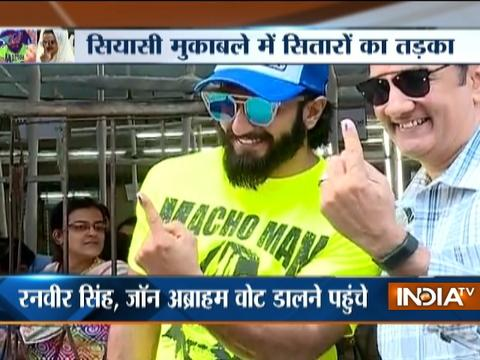 BMC Polls 2017: Ranveer Singh, Shraddha Kapoor,John Abraham cast their votes