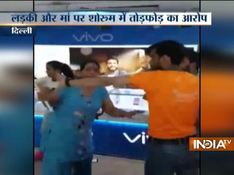 Mother-daughter duo create ruckus inside mobile showroom in Delhi