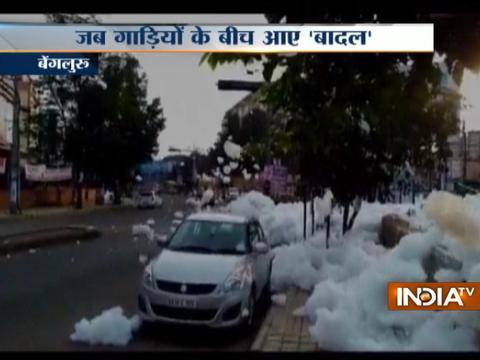 Varthur lake spills toxic foam in Bengaluru