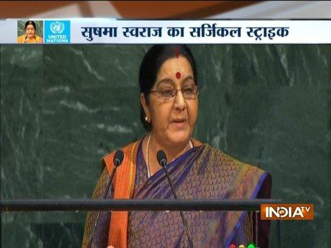While India made IITs, IIMs, Pak created terror factories: Sushma Swaraj at UNGA