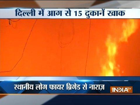 Fire breaks out in Delhi's Kamla market