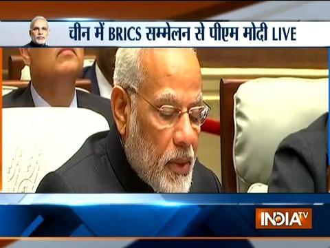 PM Modi speaks at the BRICS Plenary Session in Xiamen, China